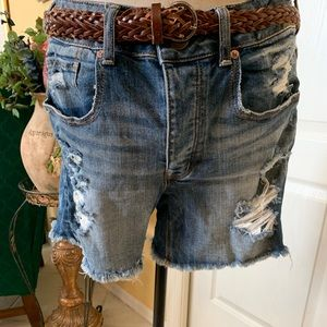 American Eagle Distressed jean shorts.